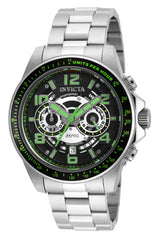 Invicta Men's 19285 Speedway Quartz Multifunction Black, Silver Dial Watch