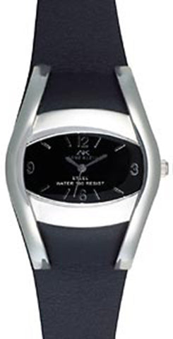 Anne Klein Black Dial and Leather Strap Watch 10/5797BKBK