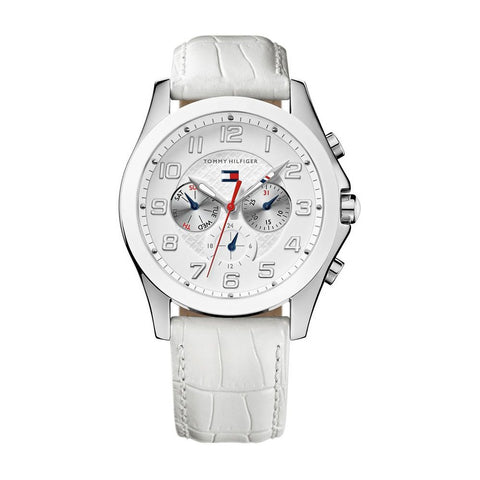 Tommy Hilfiger Classic White Leather Strap Women's watch #1781281