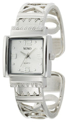 XOXO Women's XO1086 Silver Dial Silver-tone Bangle Watch
