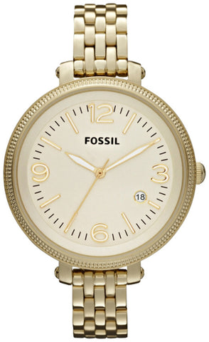 Fossil Women's ES3192 Heather Three Hand Stainless Steel Gold-Tone Watch