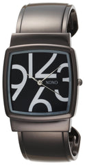 XOXO Women's XO1092 Black Dial Gun Metal Bangle Watch