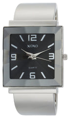 XOXO Women's XO1094 Black Dial Silver-tone Bangle Watch