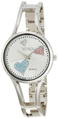 XOXO Women's XO1087 Silver Dial Silver-tone Watch