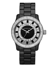 Michael Kors Baguette Crystal Black Ceramic Women's Watch MK5362