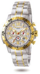 Invicta Men's 7196 Signature Quartz Chronograph Silver Dial Watch