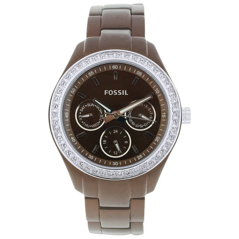 Fossil Women's ES2949 Stainless Steel Analog Brown Dial Watch