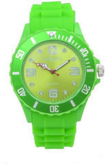 Cmatix Unisex Green Dial Rubber Band Watch [UMB-SW-011-11]