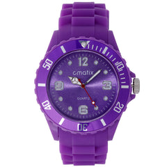 Cmatix Ladies Purple Dial Rubber Band Watch [UMB-SW-011-13]