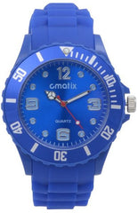 Cmatix Unisex Dark Blue Dial Rubber Band Watch [UMB-SW-011-4]