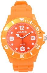 Cmatix Unisex Orange Dial Rubber Band Watch [UMB-SW-011-7]