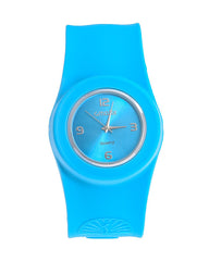 Cmatix Unisex Blue Dial Silicone Band Slap Watch [UMB-SW-02-6]