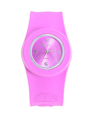Cmatix Ladies Purple Dial Silicone Band Slap Watch [UMB-SW-02-9]