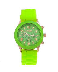 Cmatix Unisex Green Dial Rubber Band Watch [UMB-SW-03-11]
