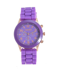 Cmatix Ladies Purple Dial Rubber Band Watch [UMB-SW-03-13]