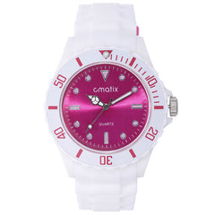 Cmatix Ladies Aryan Hot Pink Watch [UMB-SW-084-W-12]