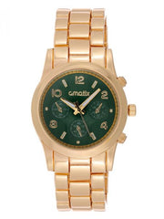 Cmatix Women's Green Dial Stainless Steel Band Watch [UMB-SW-1002-G-GREEN]