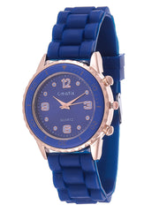 Cmatix New Wave Blue Silicone Band Watch
