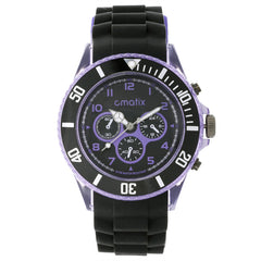 Cmatix Unisex Onyx Purple Watch [UMB-SW-163-B2-13]