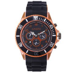 Cmatix Unisex Onyx Orange Watch [UMB-SW-163-B2-7]