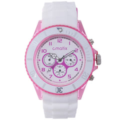 Cmatix Ladies Frosted Pink Watch [UMB-SW-163-W23-12]