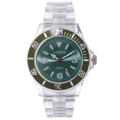 Cmatix Unisex Clear Green Watch [UMB-SW-300-11]