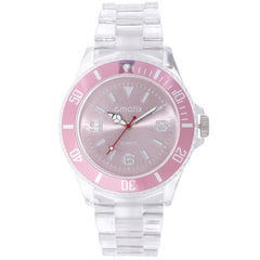 Cmatix Ladies Clear Pink Watch [UMB-SW-300-12]