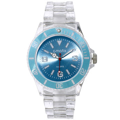 Cmatix Unisex Clear Baby Blue Watch [UMB-SW-300-5]