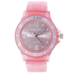 Cmatix Ladies Jelly Pink Watch [UMB-SW-301-12]
