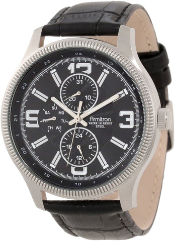 Armitron Mens Watch 20/4863BKSVBK