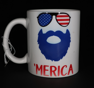 'Merica with sunglasses and beard