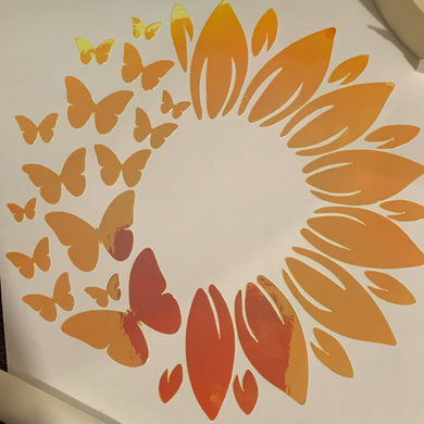 Sunflower and Butterfly Decal