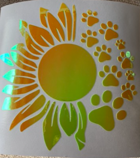 Sunflower Paw Decal