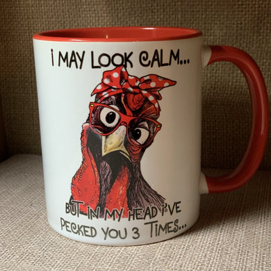 I may look calm coffee cup