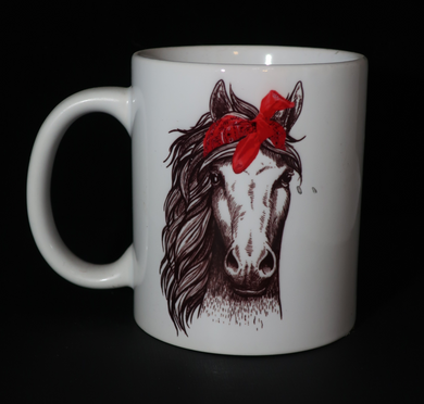 Bandanna Horse Coffee Cup
