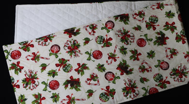 Pine Cones and Ornament Table Runner