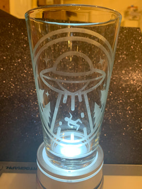 Alien etched glass