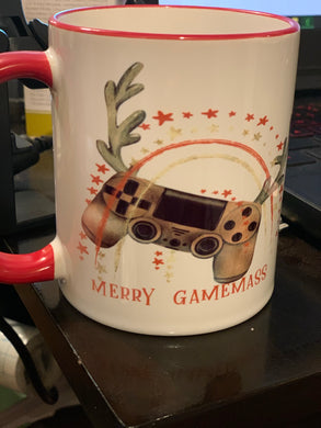 Merry Gameness coffee cup
