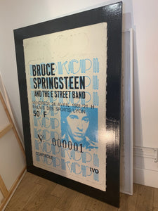 ALBERT KOSKI / TOILE SUR CHASSIS / SOUCHE TICKET / BRUCE SPRINGSTEEN / FORMAT 130 X 195 CM