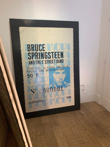 ALBERT KOSKI / TOILE SUR CHASSIS / SOUCHE TICKET / BRUCE SPRINGSTEEN / FORMAT 100 X 130 CM