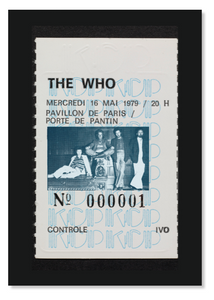 Copie de TOILE SUR CHASSIS / SOUCHE TICKET THE WHO par albert koski