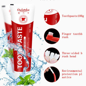 Pet Toothbrush and Edible Toothpaste Care
