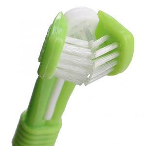 Three-sided Toothbrush with Toothpaste