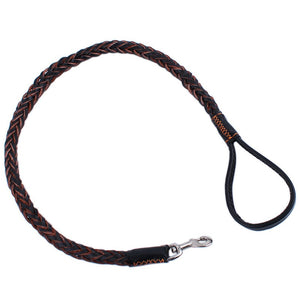 Leather Traction Rope with Weaving Collar