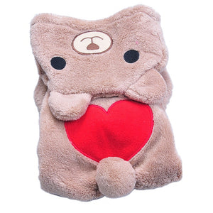 Bear Heart Hooded Shirt