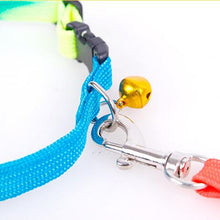 Load image into Gallery viewer, Adjustable Rainbow Dog Collar and Leash Set