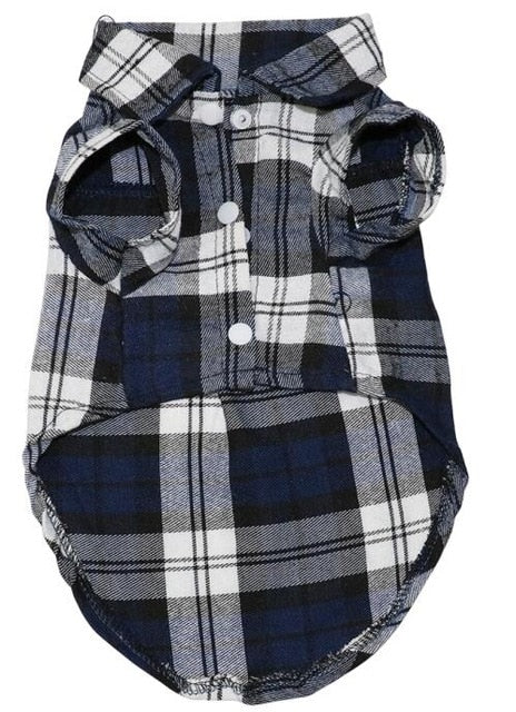 Soft Summer Plaid Dog Vest