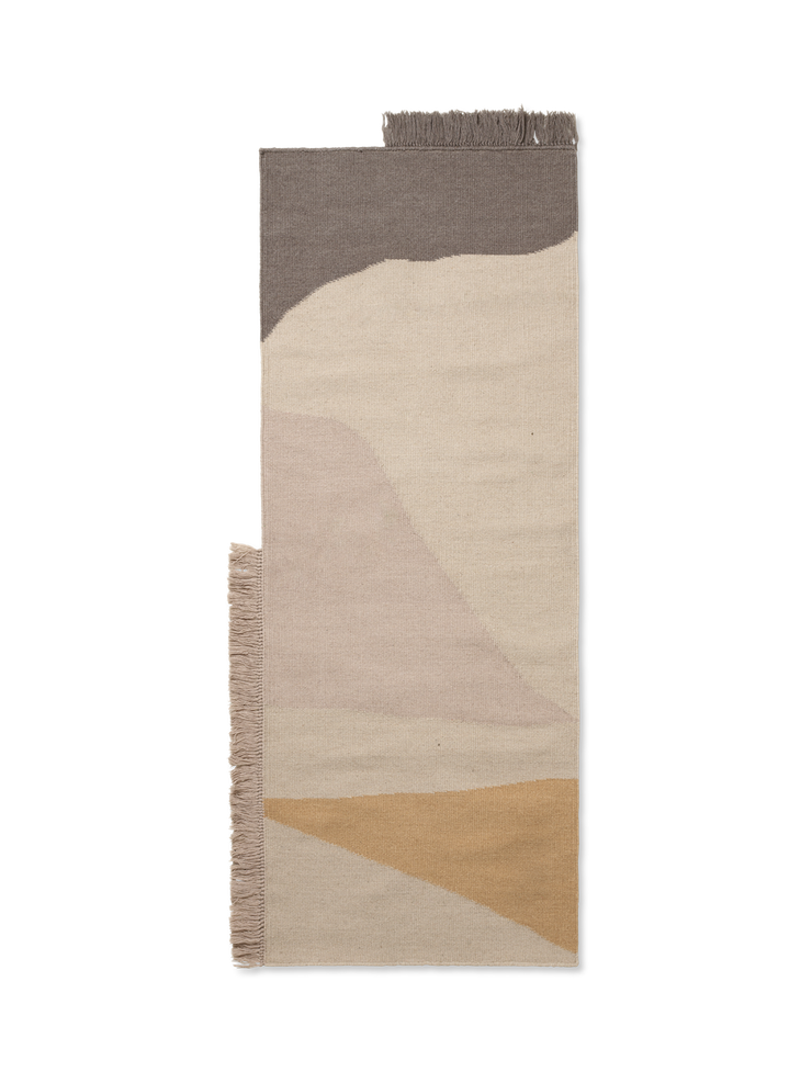 Kelim Rug in Earth - 2.5 x 5 by Ferm Living