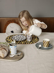 Safari Bamboo Dinner set in Zebra by Ferm Living