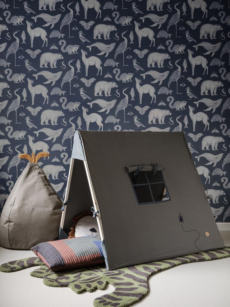 Tent with Beetle Embroidery in Dark Olive by Ferm Living